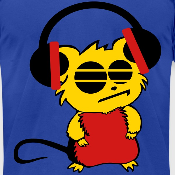 dj mouse headphones T-Shirts - Men's T-Shirt by American Apparel