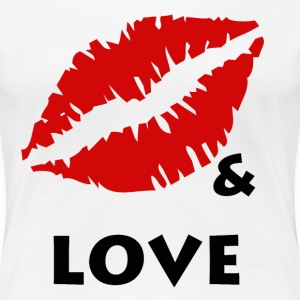 KISS & LOVE - Women's Premium T-Shirt