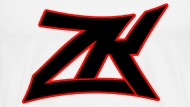 bossarmy black mens red zk logo tee mens premium t shirt rh shop spreadshirt com red and black logo social media red and black logo answers