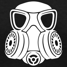 Gas mask v-neck woman
