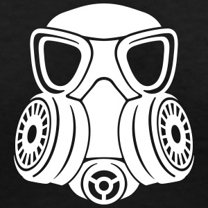 Gas mask v-neck woman - Women's V-Neck T-Shirt