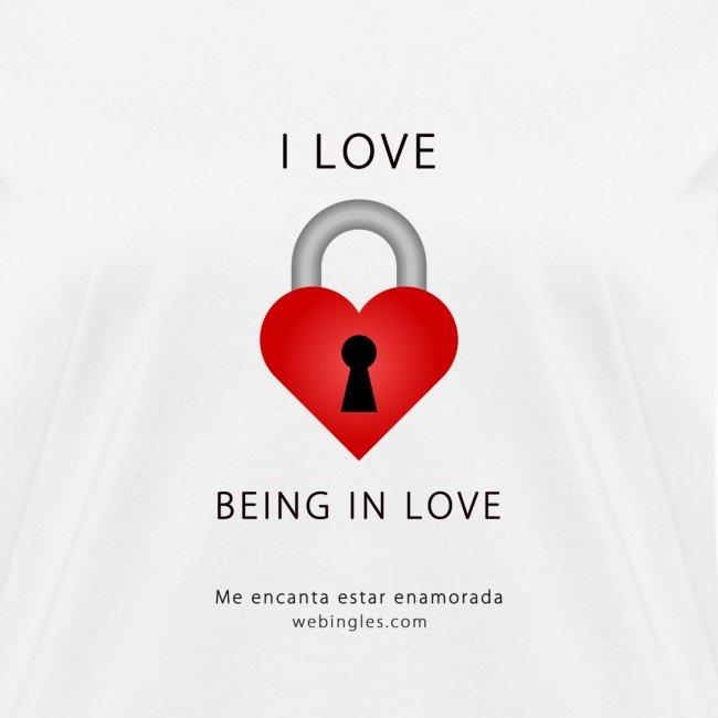 Corazón Candado, letra negra, I love being in love