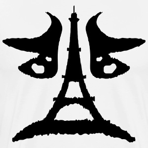 Eiffel tower Rorschach test - Men's Premium T-Shirt