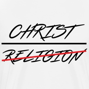 CHRIST OVER RELIGION - Men's Premium T-Shirt