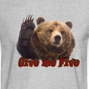 bear-give_me_5 Long Sleeve Shirts - Men's Long Sleeve T-Shirt