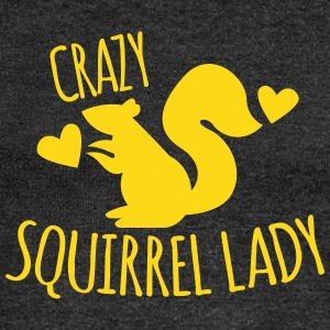 Crazy Squirrel Lady Long Sleeve Shirts - Women's Wideneck Sweatshirt
