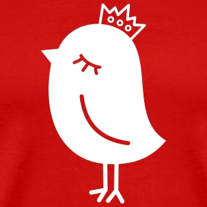 Sparrow with Crown T-Shirts - Men's Premium T-Shirt