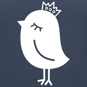 Sparrow with Crown Tanks - Women's Premium Tank Top