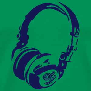DJ Headphones for Bright Shirts T-Shirts - Men's Premium T-Shirt