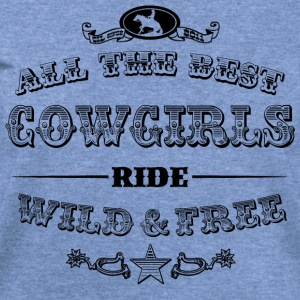 Cowgirls black Long Sleeve Shirts - Women's Wideneck Sweatshirt