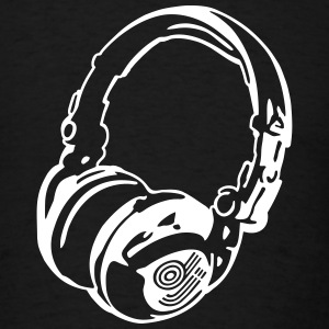 DJ Headphones for Black Shirts T-Shirts - Men's T-Shirt