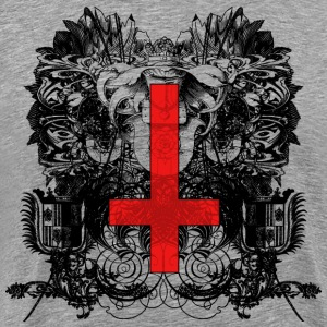 Cross Black Red T-Shirts - Men's Premium T-Shirt