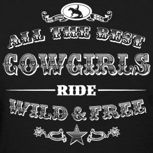 Cowgirls white Women's T-Shirts - Women's T-Shirt