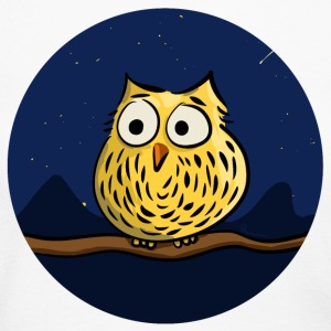Owl on branch at night Long Sleeve Shirts - Women's Long Sleeve Jersey T-Shirt
