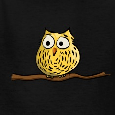 Owl on branch Kids' Shirts