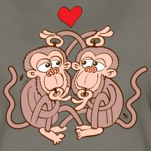 Monkeys Falling in Love while Eating Lice Women's T-Shirts - Women's Premium T-Shirt