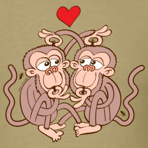 Monkeys Falling in Love while Eating Lice T-Shirts - Men's T-Shirt