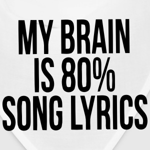 MY BRAIN IS 80% SONG LYRICS Caps - Bandana