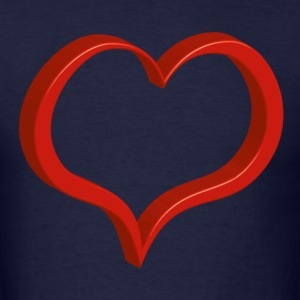red heart T-Shirts - Men's T-Shirt