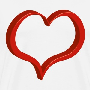 red heart T-Shirts - Men's Premium T-Shirt