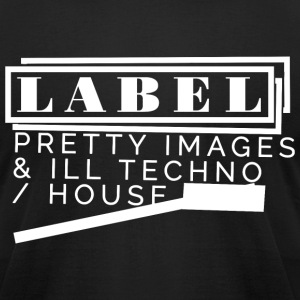LABEL Pretty Images Censored - Men's T-Shirt by American Apparel