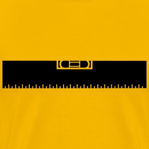 Measure Measure black ruler measure measuring reno T-Shirts - Men's Premium T-Shirt