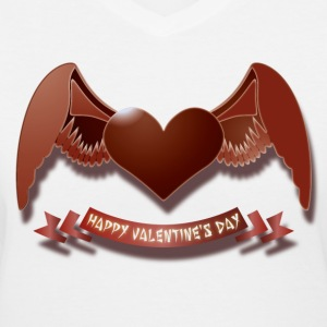 Happy Valentine's Day Women's T-Shirts - Women's V-Neck T-Shirt