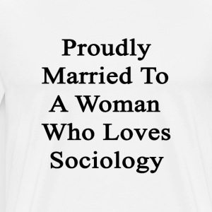 proudly_married_to_a_woman_who_loves_soc T-Shirts - Men's Premium T-Shirt