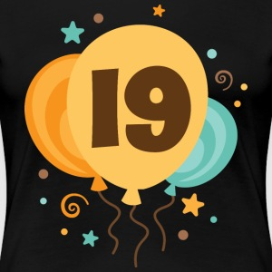 19th Birthday Balloon Fun Women's T-Shirts - Women's Premium T-Shirt