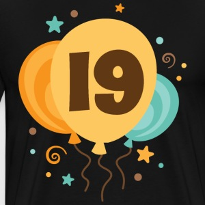 19th Birthday Balloon Fun T-Shirts - Men's Premium T-Shirt
