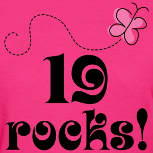 19th Birthday 19 Rocks Women's T-Shirts - Women's T-Shirt