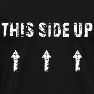 This Side Up - white T-Shirts - Men's Premium T-Shirt