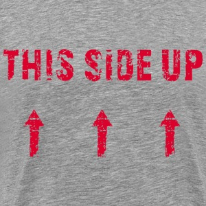 This Side Up - red T-Shirts - Men's Premium T-Shirt