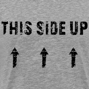 This Side Up - black T-Shirts - Men's Premium T-Shirt