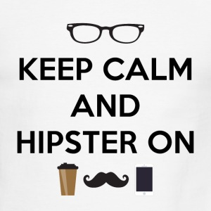 Keep Calm and Hipster On - Men's Ringer T-Shirt