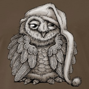 sleepy owl T-Shirts - Men's Premium T-Shirt