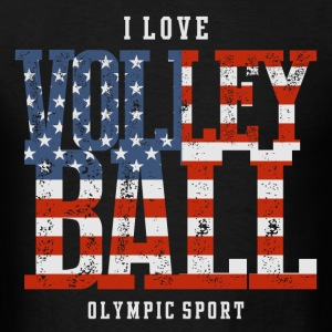 I Love Volleyball USA T-Shirts - Men's T-Shirt