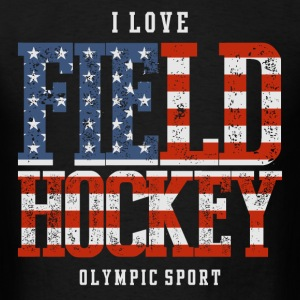 I Love Field Hockey USA T-Shirts - Men's T-Shirt