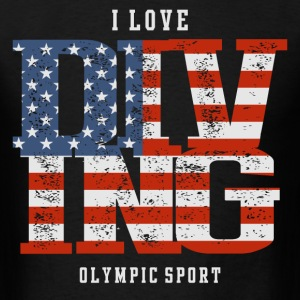 I Love Diving USA T-Shirts - Men's T-Shirt