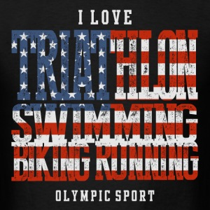 I Love Triathlon USA T-Shirts - Men's T-Shirt