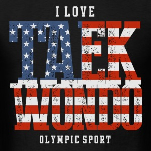 I Love Taekwondo USA T-Shirts - Men's T-Shirt