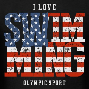 I Love Swimming USA T-Shirts - Men's T-Shirt