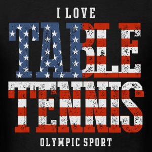 I Love Table Tennis USA T-Shirts - Men's T-Shirt