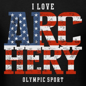 I Love Archery USA T-Shirts - Men's T-Shirt