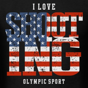 I Love Shooting USA T-Shirts - Men's T-Shirt
