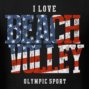 I Love Beach Volley USA T-Shirts - Men's T-Shirt