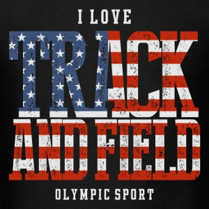 I Love Track and Field US T-Shirts - Men's T-Shirt