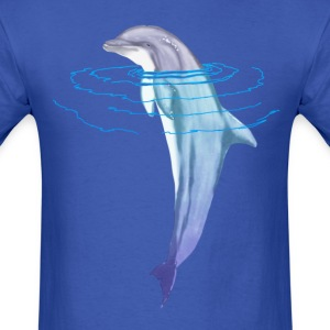 Swimming Dolphin - Men's T-Shirt