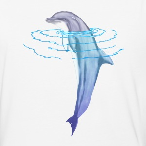 Swimming Dolphin - Baseball T-Shirt
