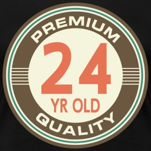 24th Birthday Vintage 24 Women's T-Shirts - Women's Premium T-Shirt
